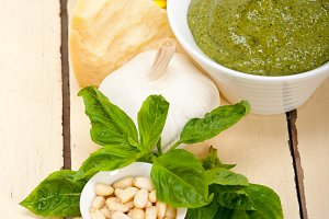 Italian organic basil pesto sauce ingredients 005.jpg