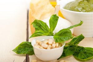Italian organic basil pesto sauce ingredients 007.jpg