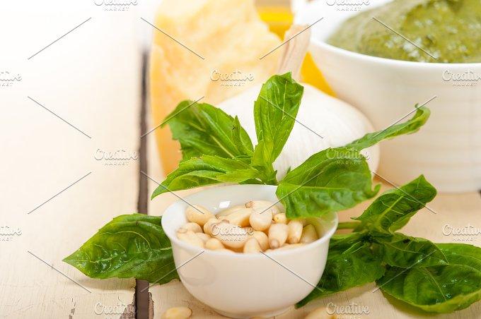 Italian organic basil pesto sauce ingredients 007.jpg - Food & Drink