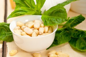 Italian organic basil pesto sauce ingredients 006.jpg