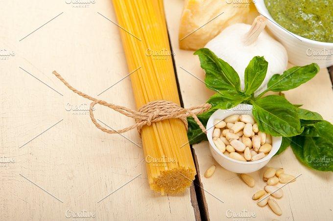 Italian organic basil pesto sauce ingredients 008.jpg - Food & Drink