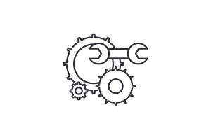 Engineering support line icon