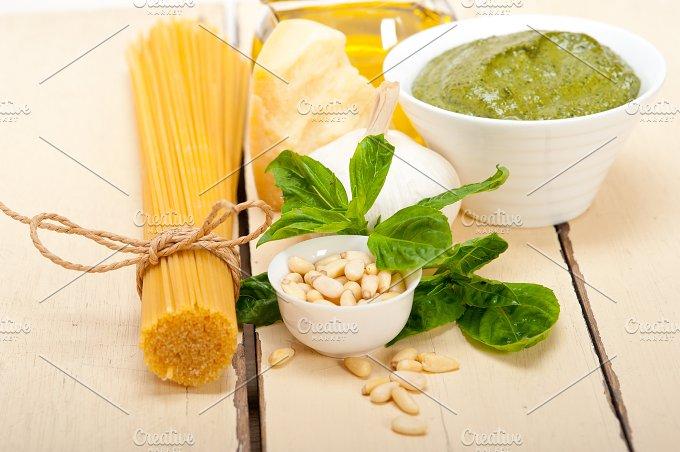 Italian organic basil pesto sauce ingredients 011.jpg - Food & Drink