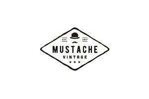 Gentleman Hipster Vintage logo