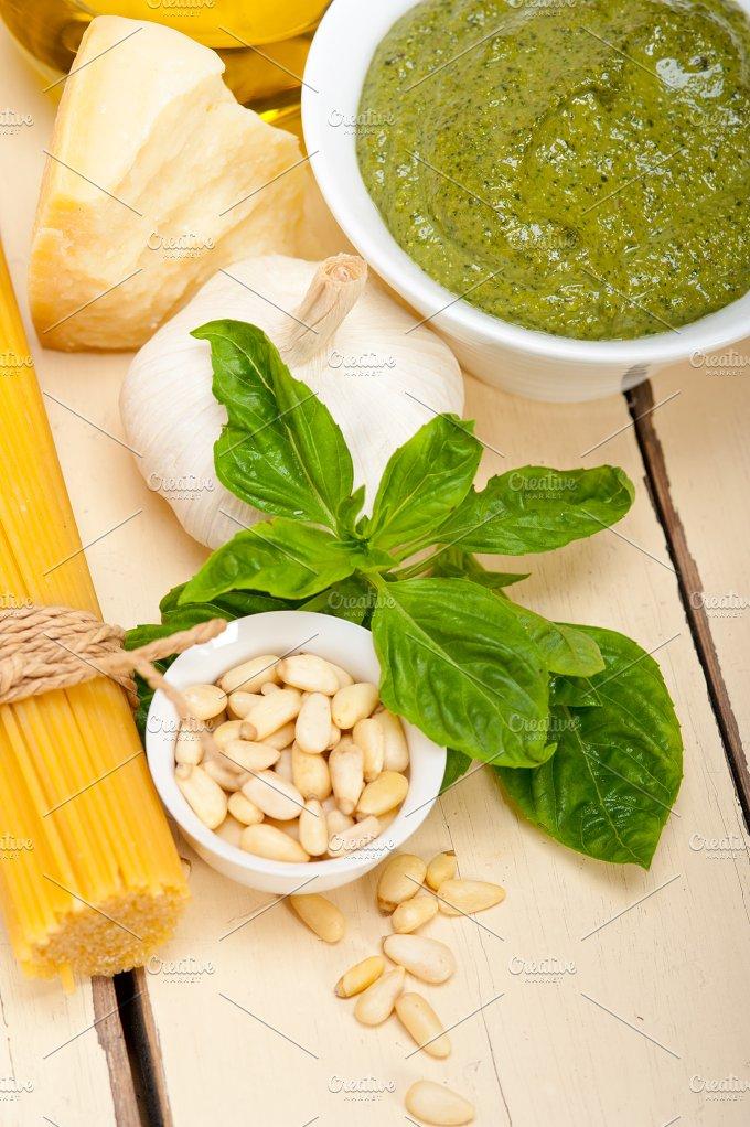 Italian organic basil pesto sauce ingredients 013.jpg - Food & Drink