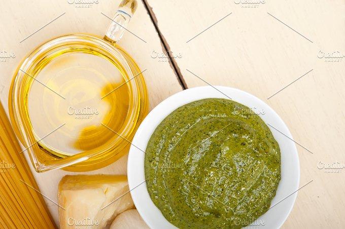Italian organic basil pesto sauce ingredients 017.jpg - Food & Drink