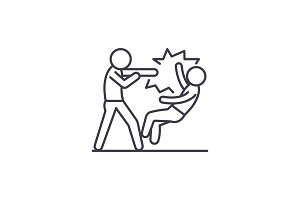 Fight line icon concept. Fight