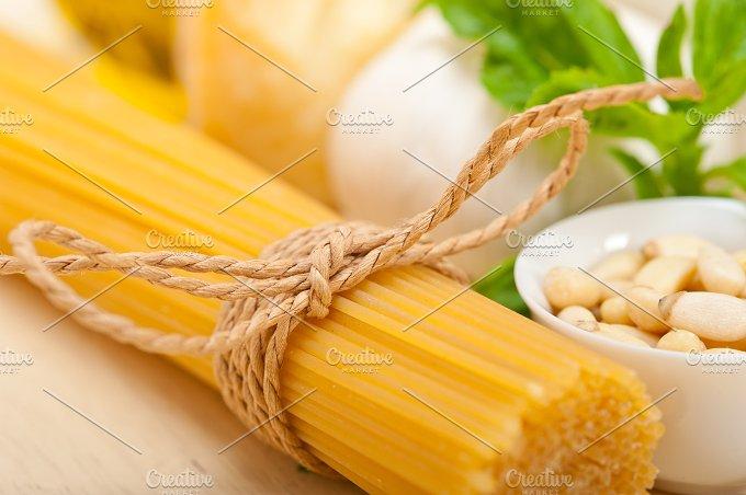 Italian organic basil pesto sauce ingredients 024.jpg - Food & Drink