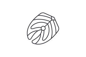 Fish fillet line icon concept. Fish