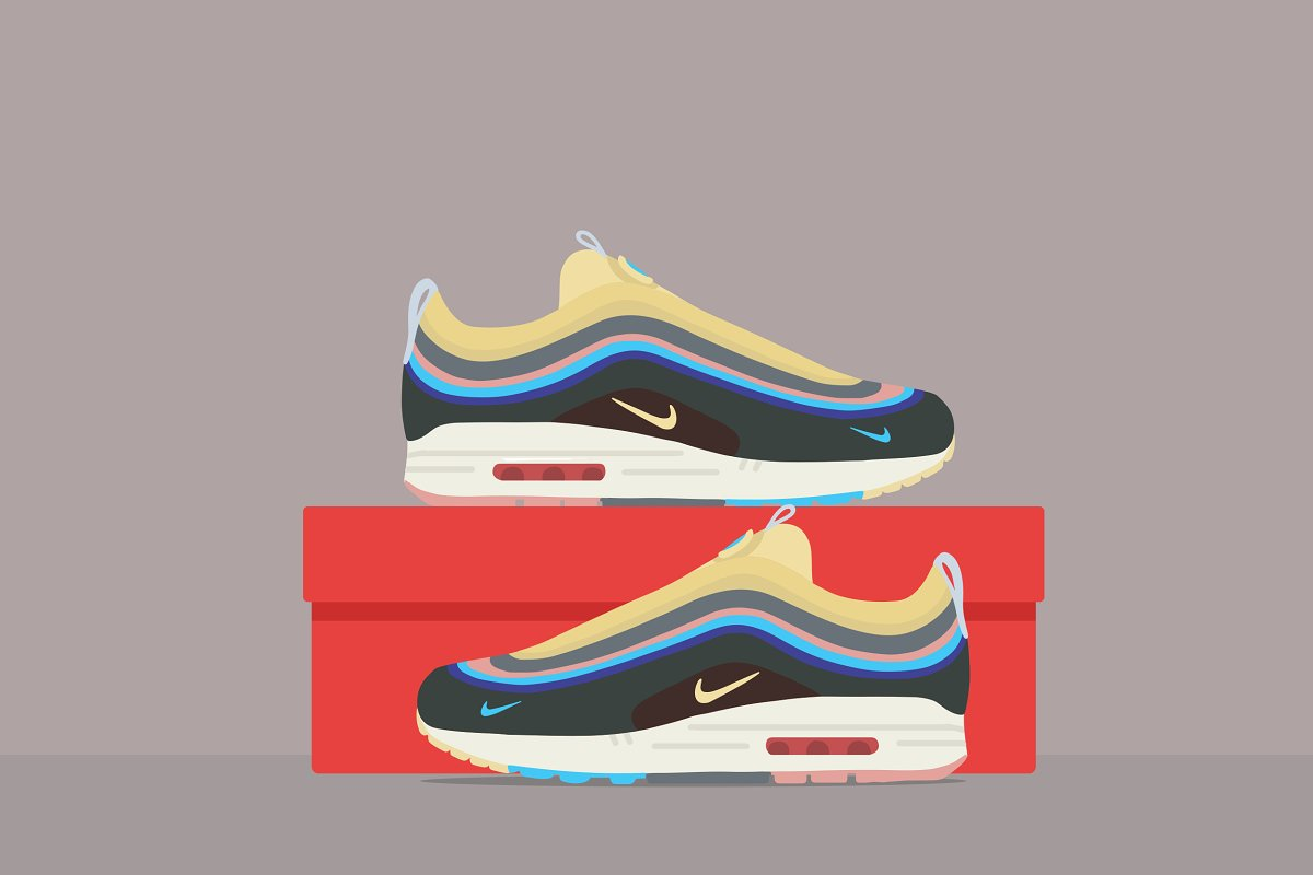 new product 694fb d962b Nike Air Max 971 ~ Illustrations ~ Creative Market