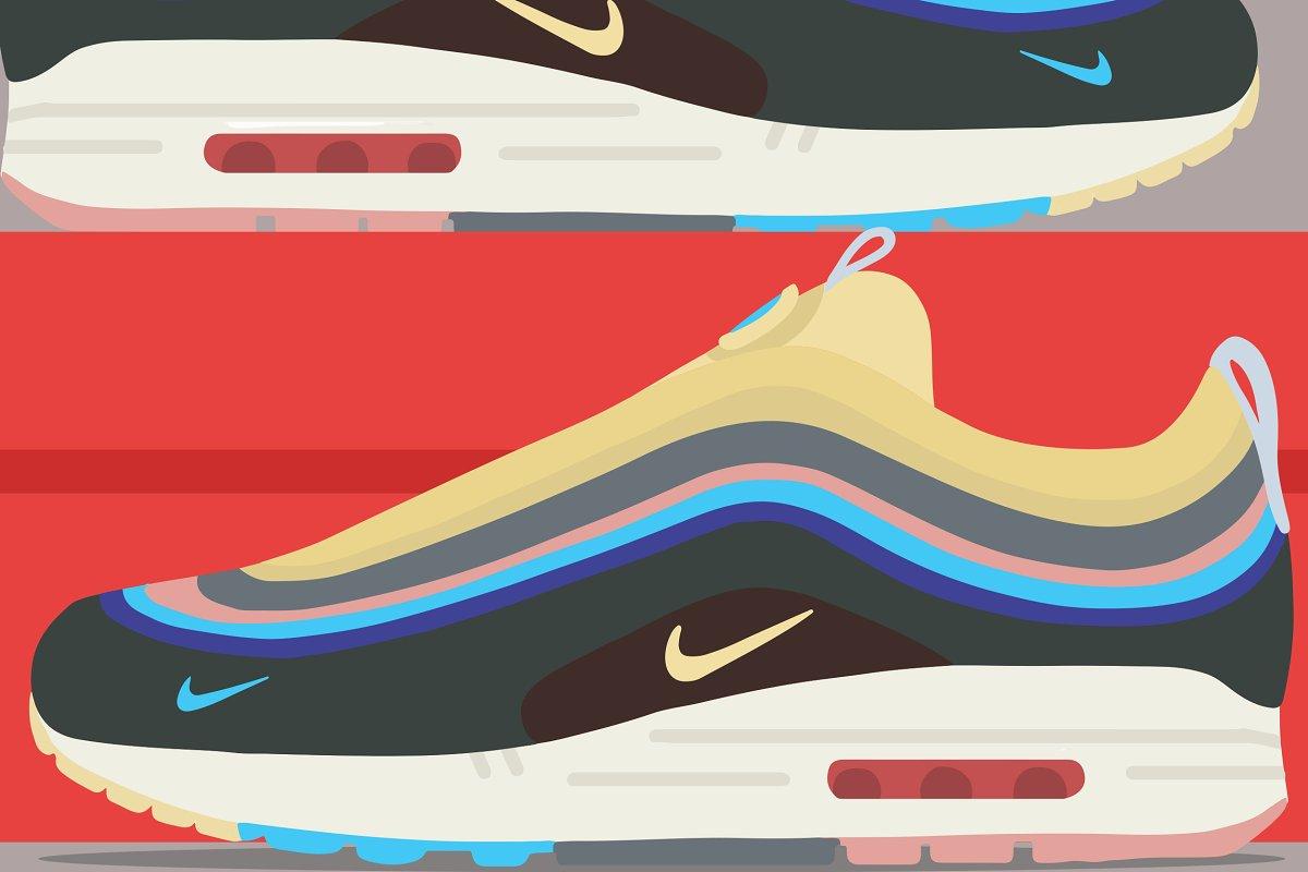 738e08ef91 Nike Air Max 97/1 ~ Illustrations ~ Creative Market