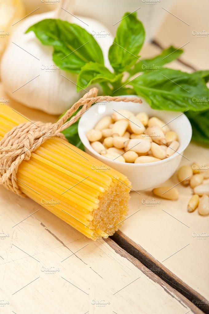 Italian organic basil pesto sauce ingredients 029.jpg - Food & Drink