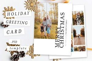 Holiday Christmas Card Template VII