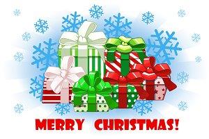 Cartoon Merry christmas different