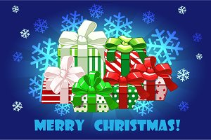 Cute Merry christmas different gifts
