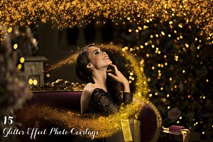 15 Glitter Effect Photo Overlays