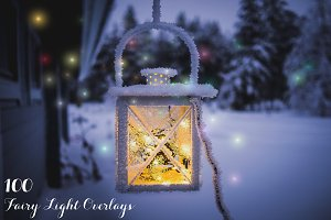 100 Fairy Light Overlays