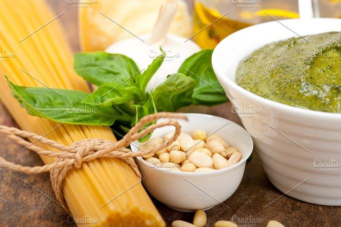 Italian organic basil pesto sauce ingredients 033.jpg - Food & Drink