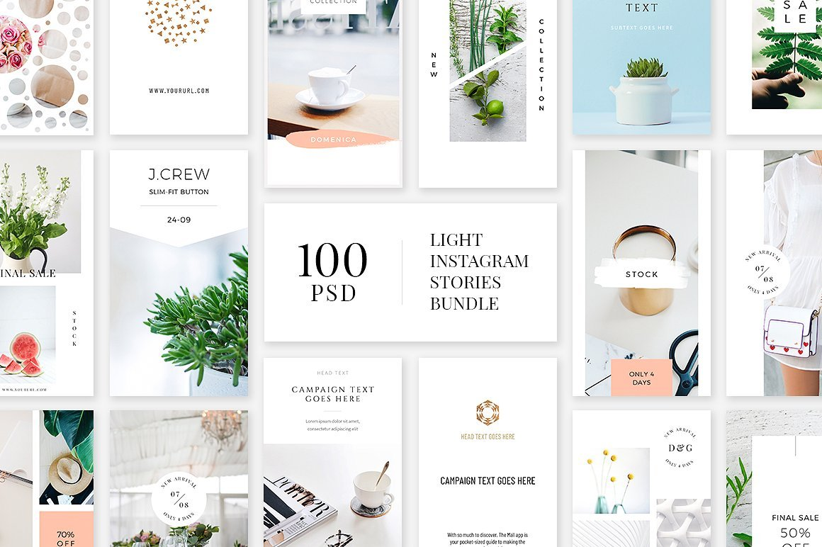light instagram stories bundle instagram templates. Black Bedroom Furniture Sets. Home Design Ideas