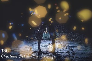 130+ Christmas Bokeh Photo Overlays