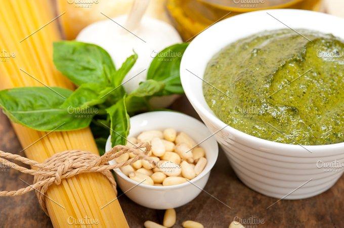 Italian organic basil pesto sauce ingredients 034.jpg - Food & Drink