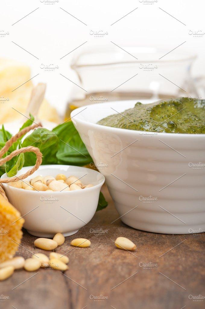 Italian organic basil pesto sauce ingredients 036.jpg - Food & Drink