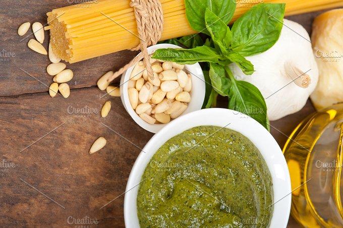 Italian organic basil pesto sauce ingredients 039.jpg - Food & Drink