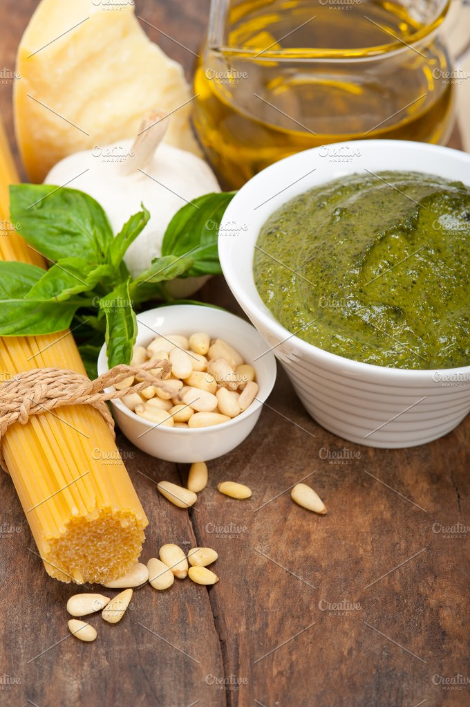Italian organic basil pesto sauce ingredients 038.jpg - Food & Drink