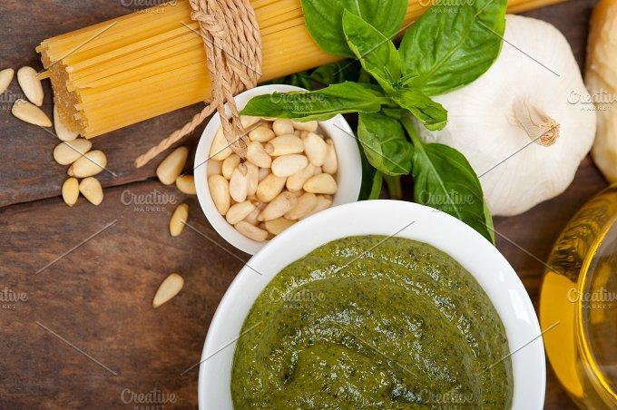 Italian organic basil pesto sauce ingredients 040.jpg - Food & Drink