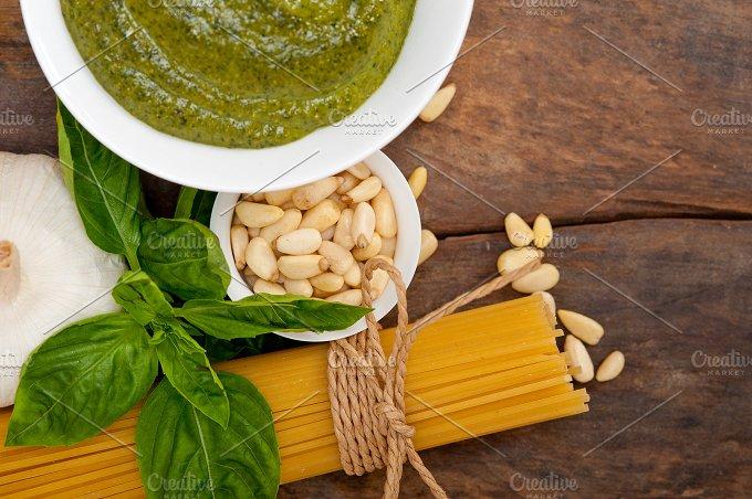 Italian organic basil pesto sauce ingredients 042.jpg - Food & Drink