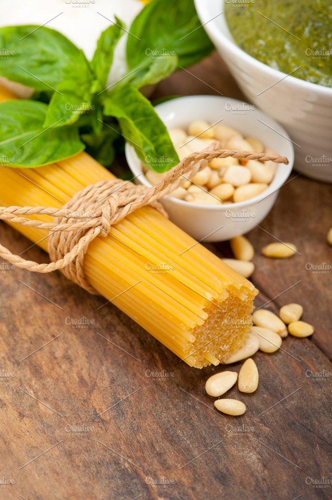 Italian organic basil pesto sauce ingredients 045.jpg - Food & Drink