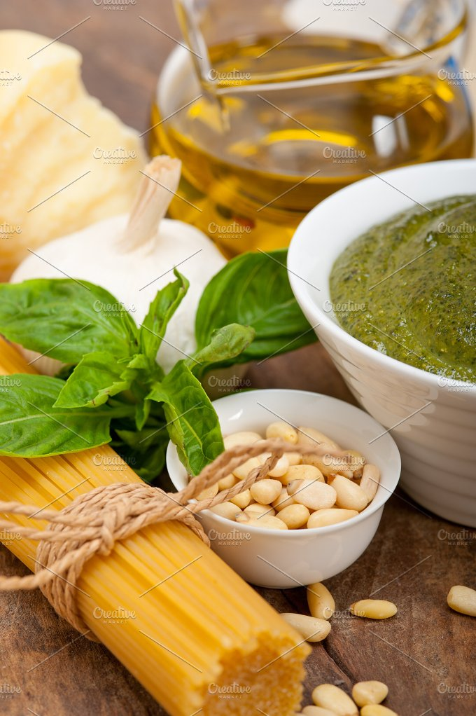 Italian organic basil pesto sauce ingredients 047.jpg - Food & Drink