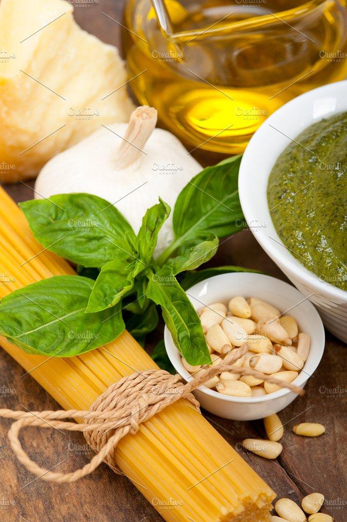 Italian organic basil pesto sauce ingredients 048.jpg - Food & Drink