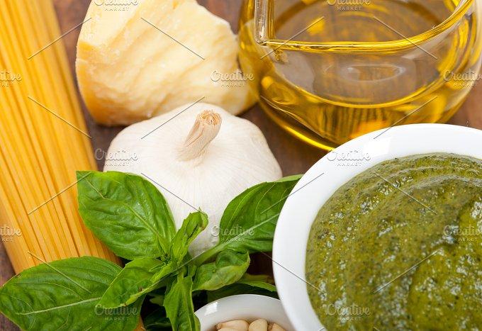 Italian organic basil pesto sauce ingredients 050.jpg - Food & Drink