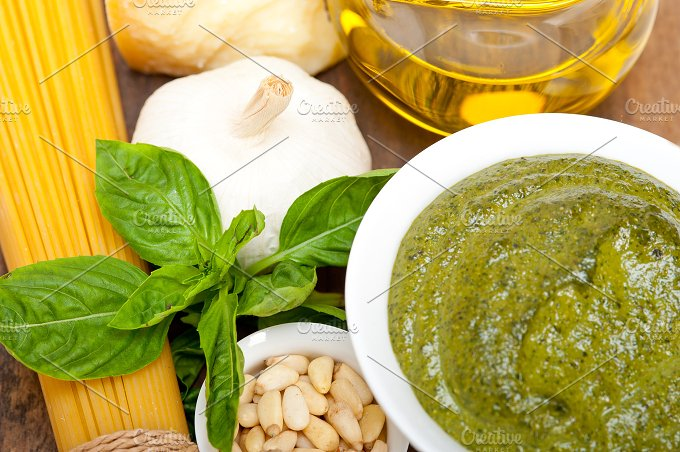 Italian organic basil pesto sauce ingredients 051.jpg - Food & Drink