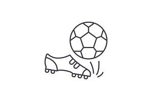 Football line icon concept. Football