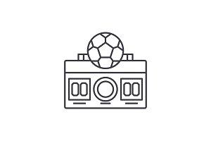 Football score line icon concept