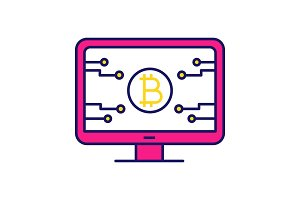 Bitcoin official webpage color icon