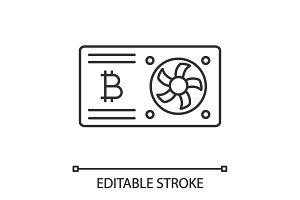 Bitcoin mining graphic card icon