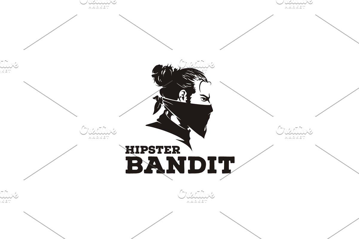 Bandit With Scarf Hipster Logo Logo Templates Creative Market