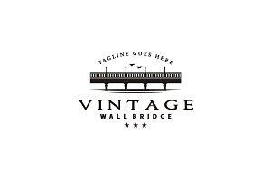 Vintage Bridge view logo design