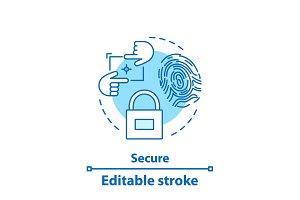 Security concept icon
