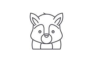 Funny squirrel line icon concept
