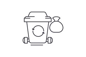 Garbage line icon concept. Garbage