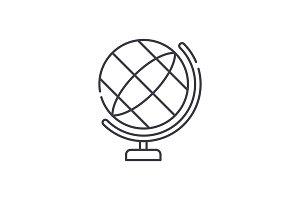 Globe line icon concept. Globe