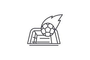 Goal line icon concept. Goal vector