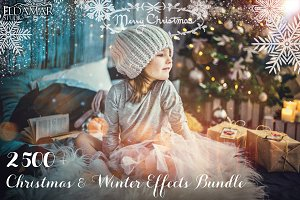 2500+ Christmas & Winter Overlays