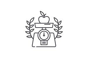 Healthy food line icon concept