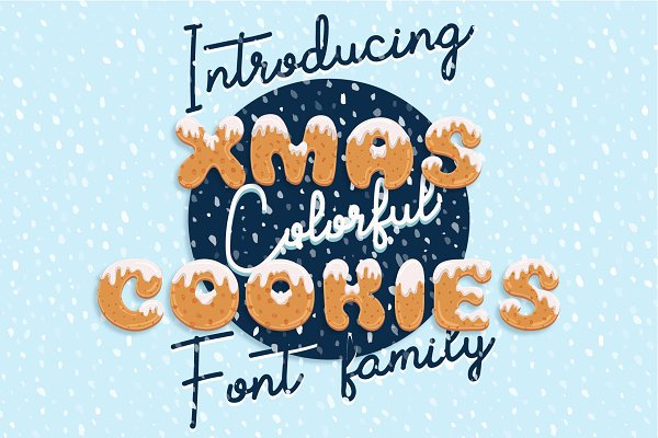 Xmas cookie font family