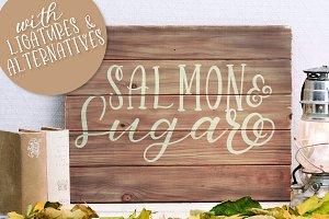 Salmon & Sugar - A Pretty Font Duo